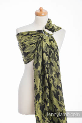 Ringsling, Jacquard Weave (100% cotton) - GREEN CAMO