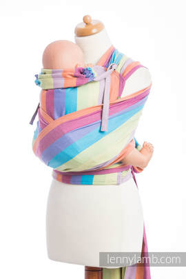 WRAP-TAI carrier Mini, broken-twill weave - 100% cotton - with hood, CORAL REEF (grade B)