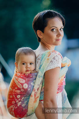 Baby Wrap, Jacquard Weave (100% cotton) - DRAGONFLY RAINBOW - size S