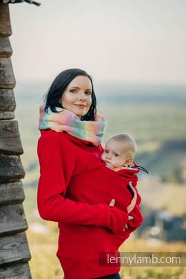 Fleece Babywearing Sweatshirt - size XL - red with Little Herringbone Imagination