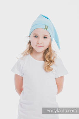 Elf Baby Hat (100% cotton) - size XXL - Azure