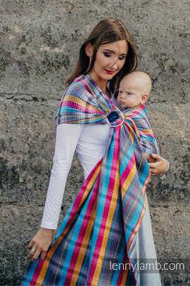 Ringsling, Herringbone Weave (100% cotton) - with gathered shoulder - LITTLE HERRINGBONE CITYLIGHTS