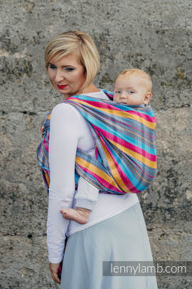 Baby Wrap, Herringbone Weave (100% cotton) - LITTLE HERRINGBONE CITYLIGHTS - size S