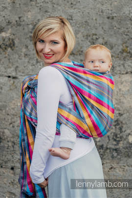 Baby Wrap, Herringbone Weave (100% cotton) - LITTLE HERRINGBONE CITYLIGHTS - size L