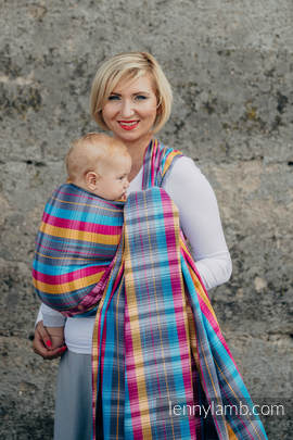 Baby Wrap, Herringbone Weave (100% cotton) - LITTLE HERRINGBONE CITYLIGHTS - size M