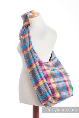 Hobo Bag made of woven fabric (100% cotton) - LITTLE HERRINGBONE CITYLIGHTS