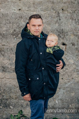 Parka Babywearing Coat - size 3XL - Black & Customized Finishing