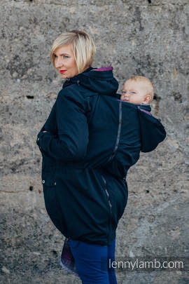 Parka Babywearing Coat - size XXL - Black & Customized Finishing
