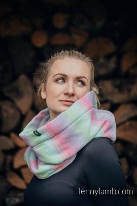 Kamin/Schal aus gewebtem Stoff  und Fleece - LITTLE HERRINGBONE IMPRESSION und GRAU