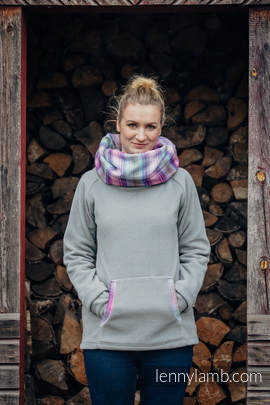 Fleece Sweatshirt - size L - grey with Little Herringbone Tamonea