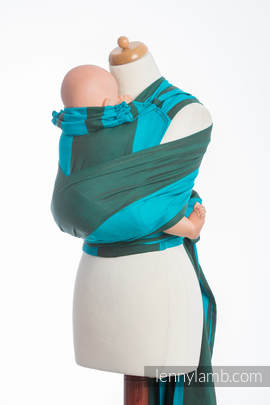 WRAP-TAI carrier TODDLER, broken-twill weave - 100% cotton - with hood, MOUNTAIN SPRING