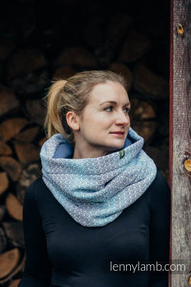 Snood Scarf with  Fleece - LITTLE LOVE - BREEZE & BLUE (grade B)