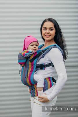 Nosidełko Ergonomiczne , splot jodełkowy, 100% bawełna , Baby Size, MAŁA JODEŁKA ŚWATŁA NOCY - Druga Generacja
