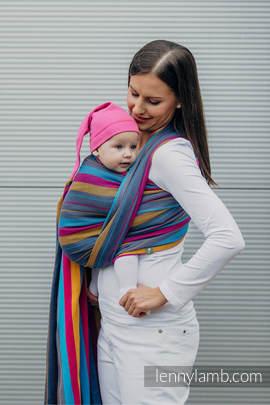 Baby Wrap, Herringbone Weave (100% cotton) - LITTLE HERRINGBONE NIGHTLIGHTS - size L