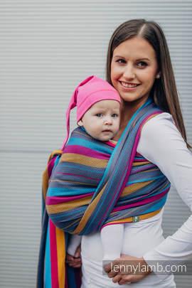 Baby Wrap, Herringbone Weave (100% cotton) - LITTLE HERRINGBONE NIGHTLIGHTS - size S