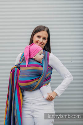 Baby Wrap, Herringbone Weave (100% cotton) - LITTLE HERRINGBONE NIGHTLIGHTS - size XS