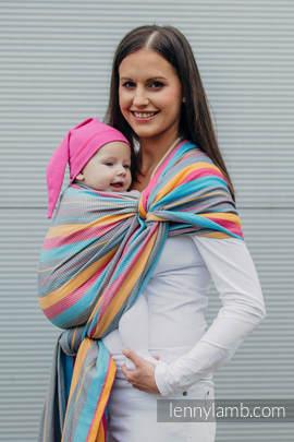 Baby Wrap, Herringbone Weave (100% cotton) - LITTLE HERRINGBONE DAYLIGHTS - size XL
