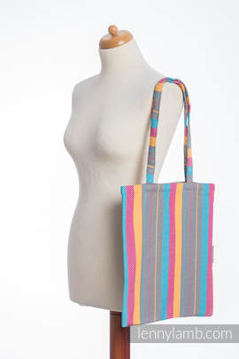 Shopping bag made of wrap fabric (100% cotton) - LITTLE HERRINGBONE DAYLIGHTS