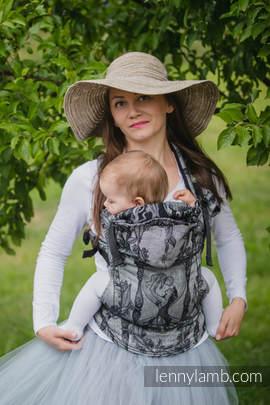 Nosidełko Ergonomiczne z tkaniny żakardowej 100% bawełna , Baby Size, CZAS (bez czaszki) - Druga Generacja