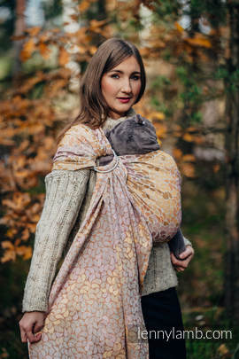 Ringsling, Jacquard Weave (100% cotton) - with gathered shoulder - COLORS OF FALL