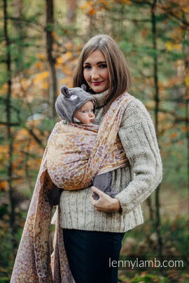 Baby Wrap, Jacquard Weave (100% cotton) - COLORS OF FALL - size L (grade B)