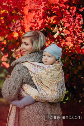 Baby Wrap, Jacquard Weave (100% cotton) - COLORS OF FALL - size L