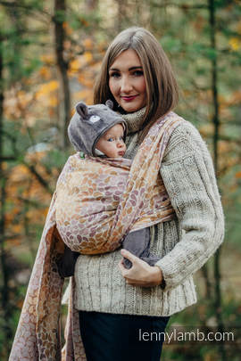 Baby Wrap, Jacquard Weave (100% cotton) - COLORS OF FALL - size XL