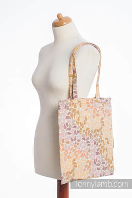 Shopping bag made of wrap fabric (100% cotton) - COLORS OF FALL