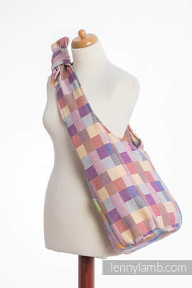 Hobo Bag made of woven fabric, 100% cotton - QUARTET