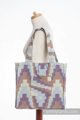 Shoulder bag made of wrap fabric (100% cotton) - TRIO  - standard size 37cmx37cm