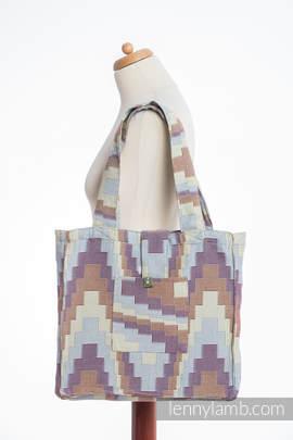 Schultertasche, hergestellt vom gewebten Stoff (100% Baumwolle) - TRIO