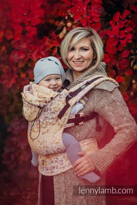 Nosidełko Ergonomiczne z tkaniny żakardowej 100% bawełna , Baby Size, KOLORY JESIENI - Druga Generacja