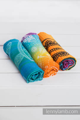 Muslin Square Set - RAINBOW LACE DARK, DRAGONFLY RAINBOW, SEA ADVENTURE LIGHT