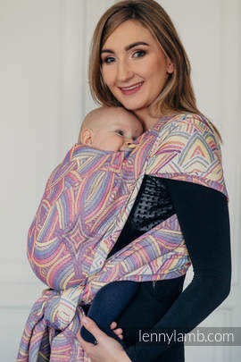Baby Wrap, Jacquard Weave (100% cotton) - ILLUMINATION LIGHT - size S