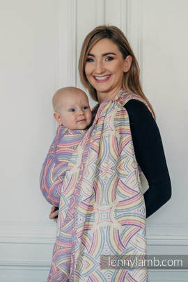 Baby Wrap, Jacquard Weave (100% cotton) - ILLUMINATION LIGHT - size L