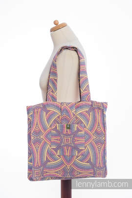Shoulder bag made of wrap fabric (100% cotton) - ILLUMINATION LIGHT - standard size 37cmx37cm