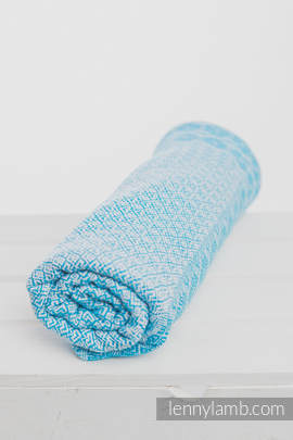 Woven Blanket (60% cotton, 40 merino wool) - Turquoise