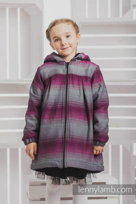 Girls Coat - size 116 - LITTLE HERRINGBONE INSPIRATION with Black