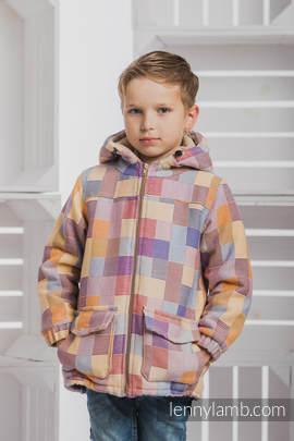 Boys Coat - size 122 - QUARTET with Cafe Latte
