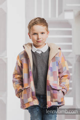 Boys Coat - size 104 - QUARTET with Cafe Latte