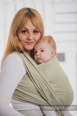 Baby Wrap, Herringbone Weave (100% cotton) - LITTLE HERRINGBONE OLIVE GREEN - size M