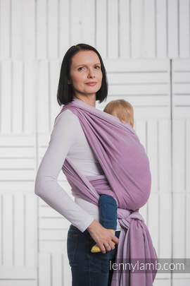 Baby Wrap, Herringbone Weave (100% cotton) - LITTLE HERRINGBONE PURPLE - size M