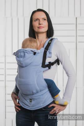 Nosidełko Ergonomiczne , splot jodełkowy, 100% bawełna , Toddler Size, MAŁA JODEŁKA NIEBIESKA - Druga Generacja