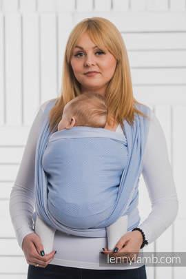 Baby Wrap, Herringbone Weave (100% cotton) - LITTLE HERRINGBONE BLUE - size L