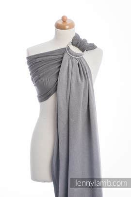 Ringsling, Herringbone Weave (100% cotton) - LITTLE HERRINGBONE BLACK  (grade B)
