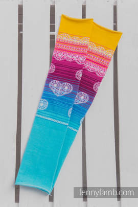 LennyLegs Long - baby leg warmers - RAINBOW LACE