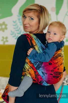 Baby Wrap, Jacquard Weave (100% cotton) - DRAGONFLY RAINBOW DARK - size XL