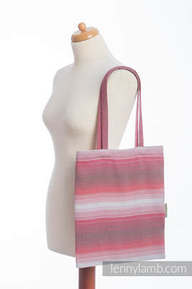 Shopping bag made of wrap fabric (100% cotton) - LITTLE HERRINGBONE ELEGANCE