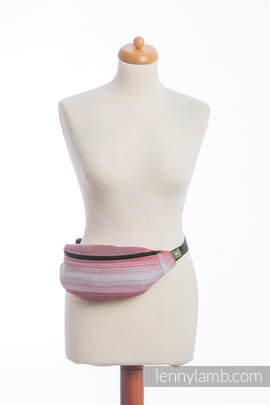 Waist Bag made of woven fabric, (100% cotton) - LITTLE HERRINGBONE ELEGANCE