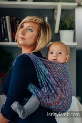Baby Wrap, Jacquard Weave (100% cotton) - BIG LOVE - SAPPHIRE - size XS